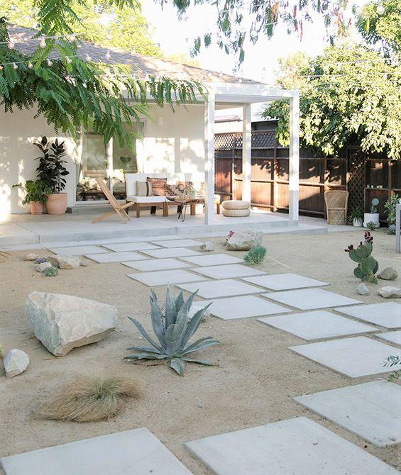 Cambio de imagen del oasis del patio trasero - Después