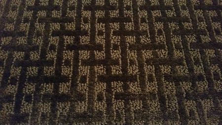 Brown Basketweave Pattern Cut And Loop Style