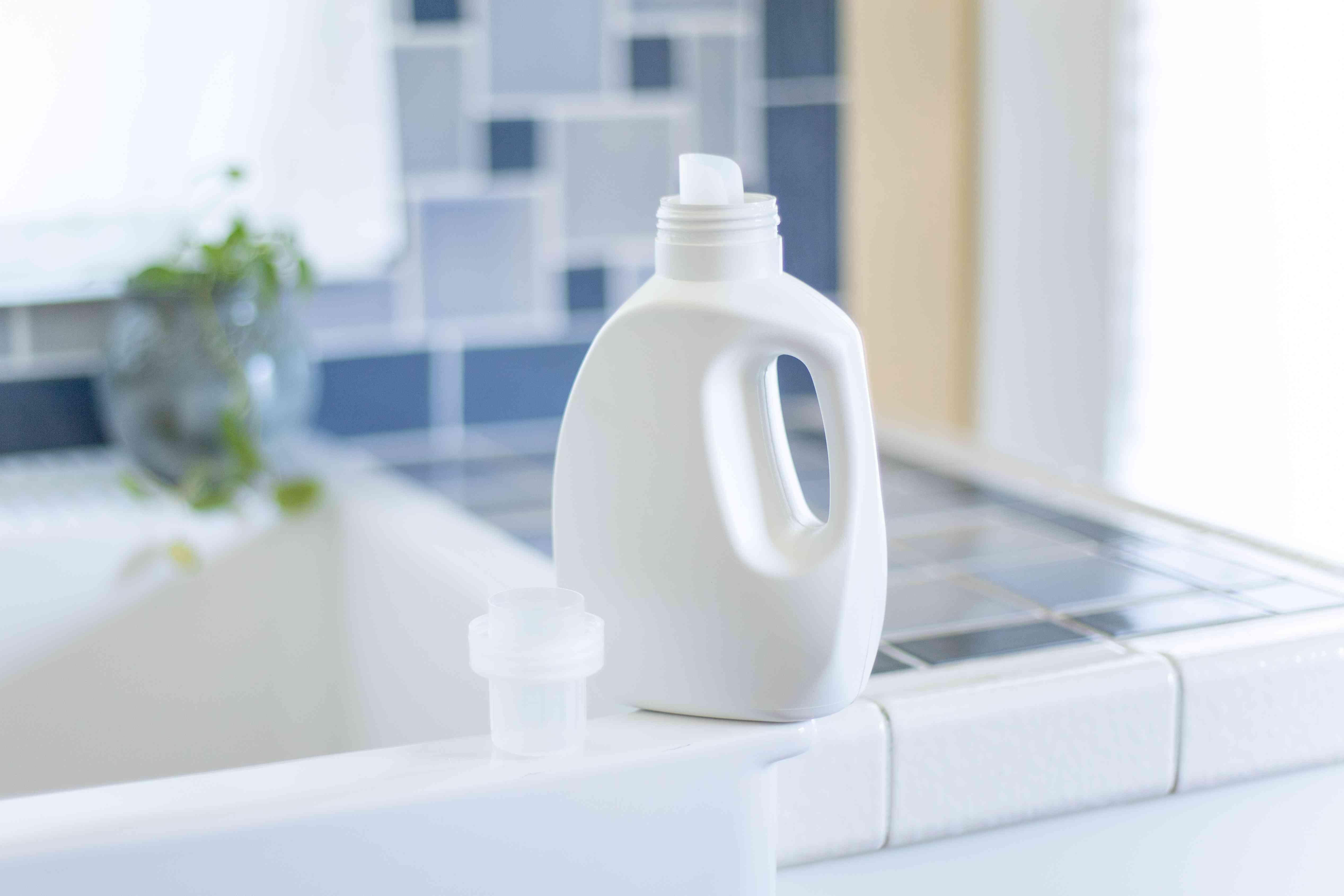 bottle of laundry detergent