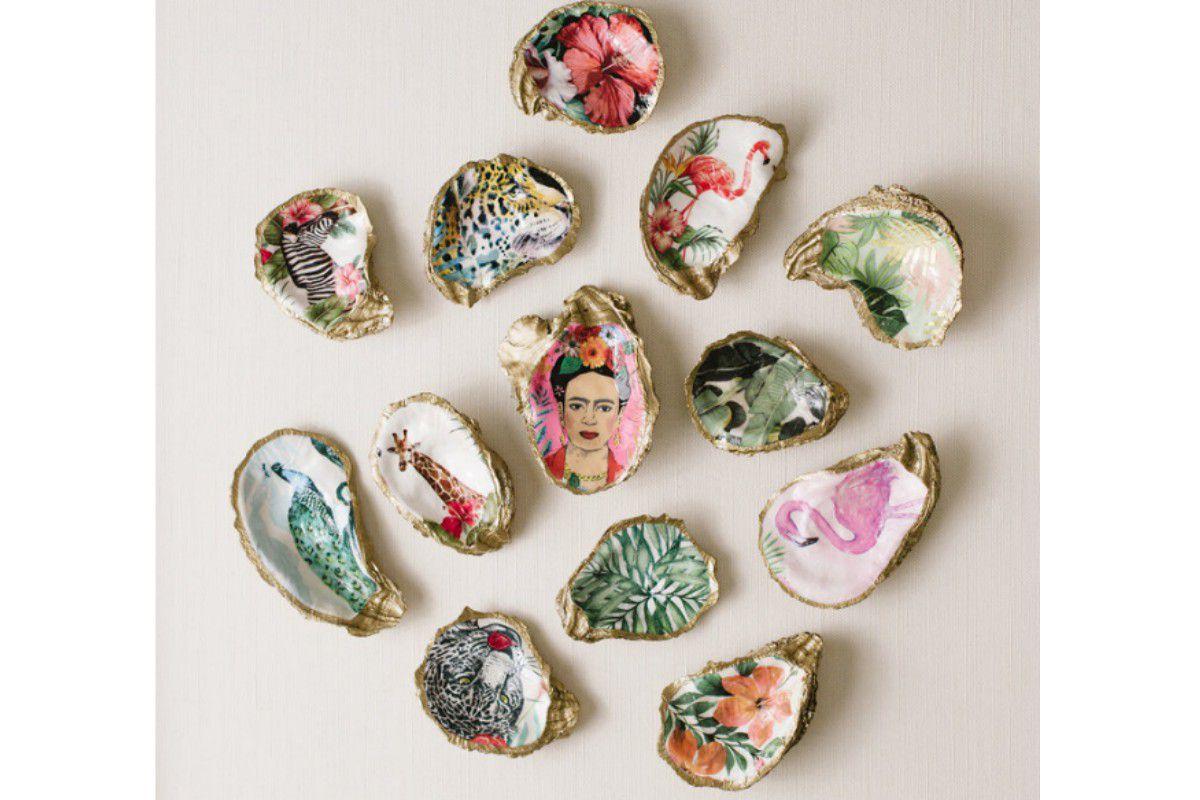 Grit & Grace Decoupage Oyster jewelry dish