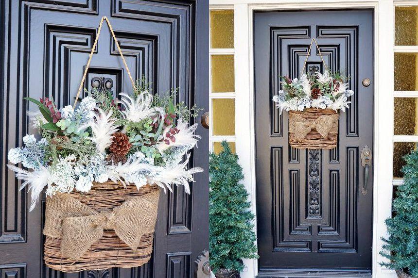 alternative winter wreath for porch