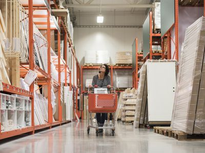 Woman shopping at hardware store