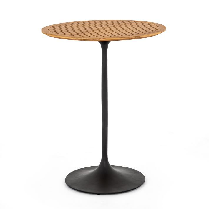 West Elm Iron & Wood Outdoor Bar Table