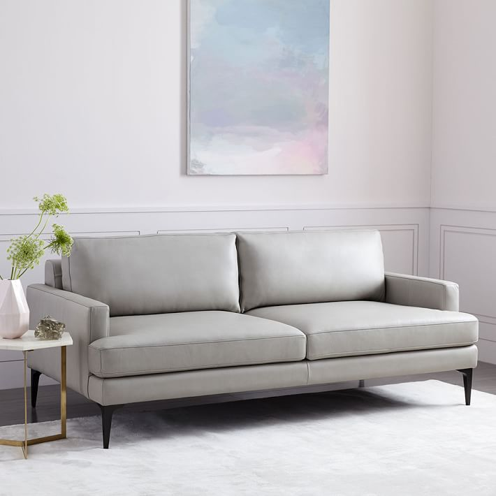 Best Midcentury Modern West Elms Andes Leather Sofa