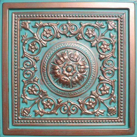 Majesty Antique Copper Patina 24x24 Pvc Ceiling Tile