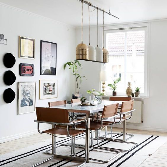 Boho-inspired dining room