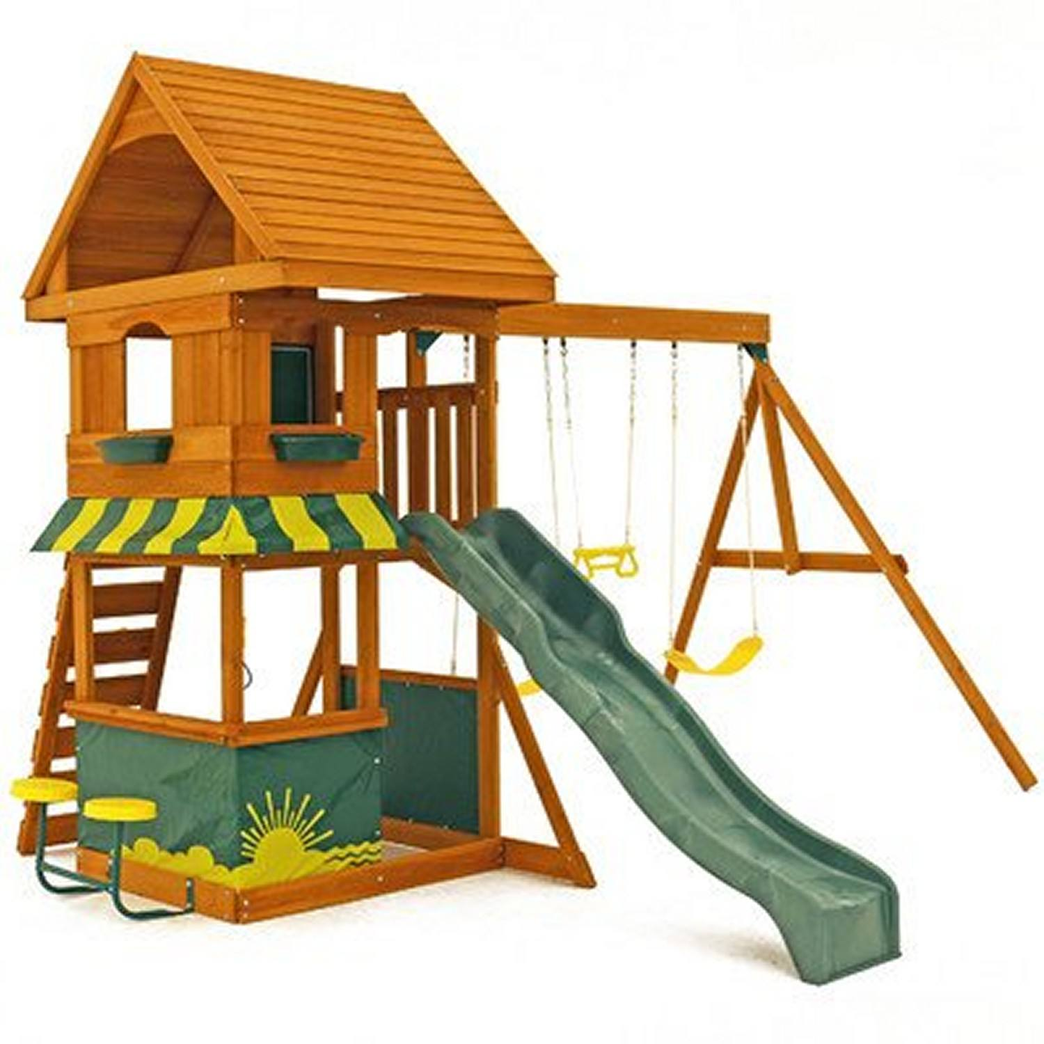 Backyard Playset Reviews the 8 best wooden swing sets and playsets to buy in 2018