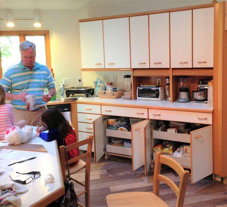 Remodelación de la cocina de las pistas de esquí antes