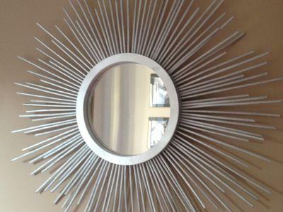 Finished DIY sunburst mirror