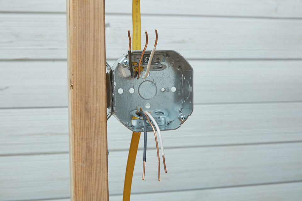Insert cable into junction box