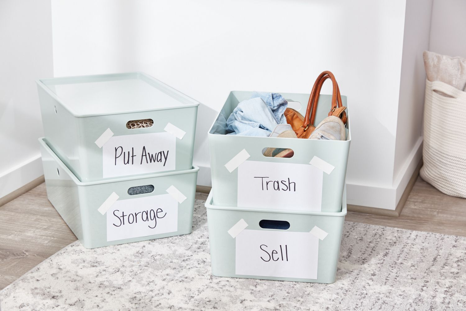 Organized clothing containers