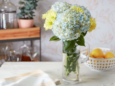 flowers sitting on a table
