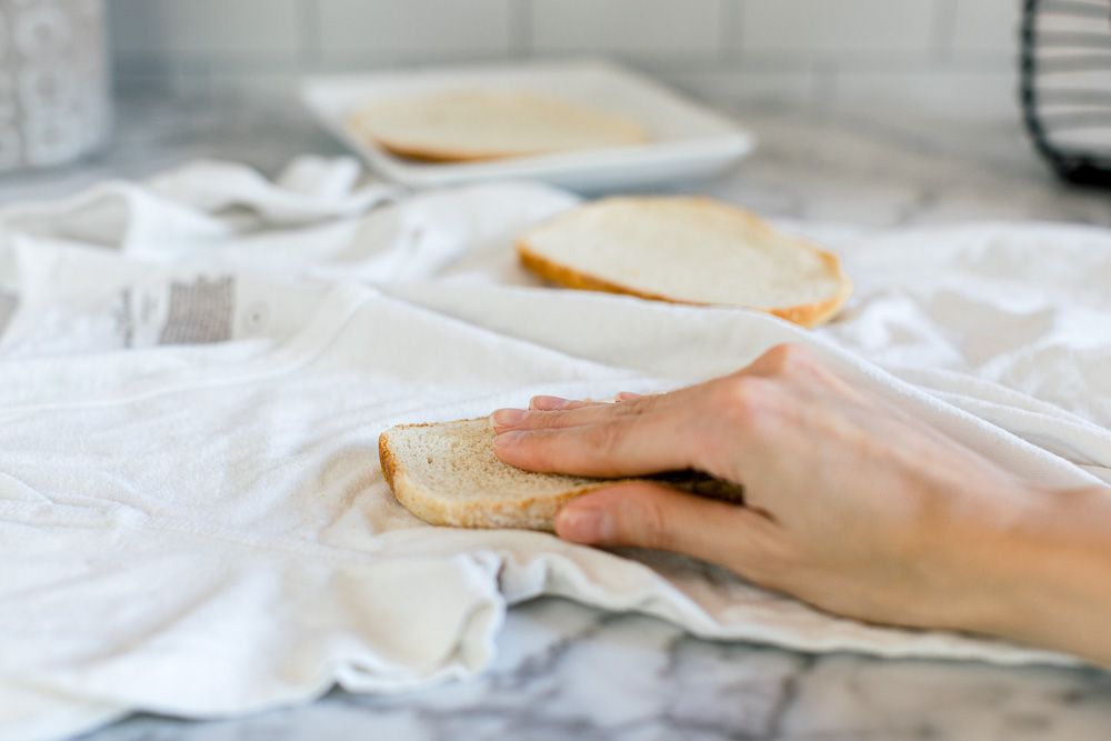 using bread as a stain remover