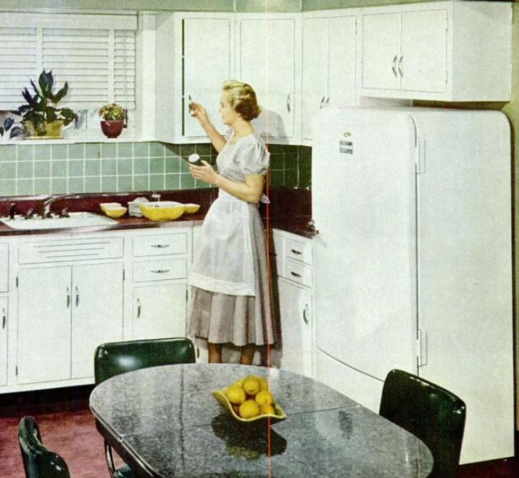 Kitchen Trends Introduced in the 1950s on 1940s bathroom floor tile, 1940s wood kitchen cabinets, 1940s metal kitchen cabinets columbia,