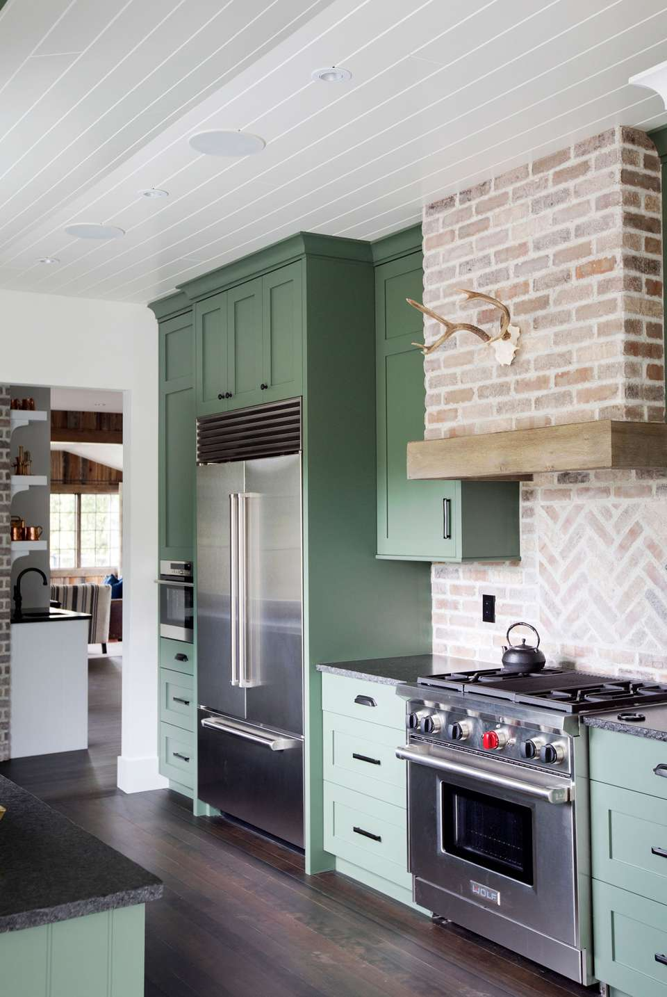 exciting green kitchens white cabinets | Green Kitchens Ideas for a Lively Space
