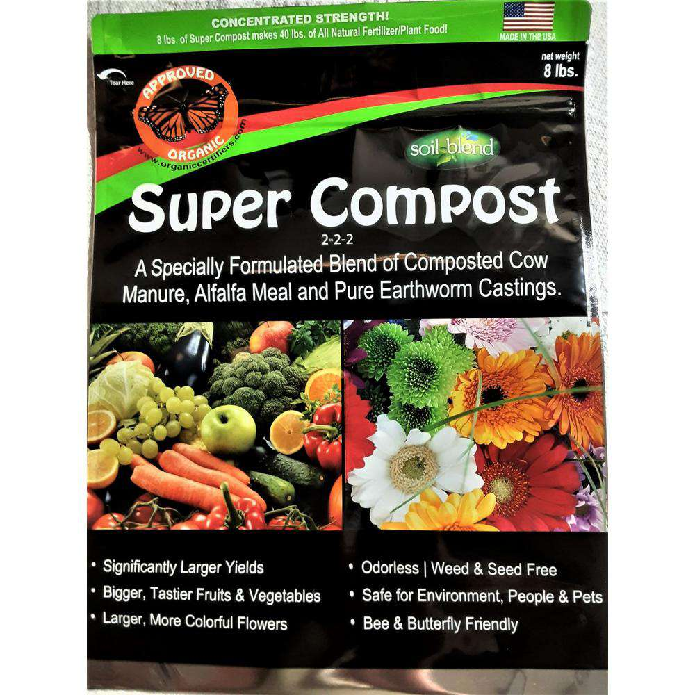 Soil Blend Super Compost 8 lbs. Concentrated Bag