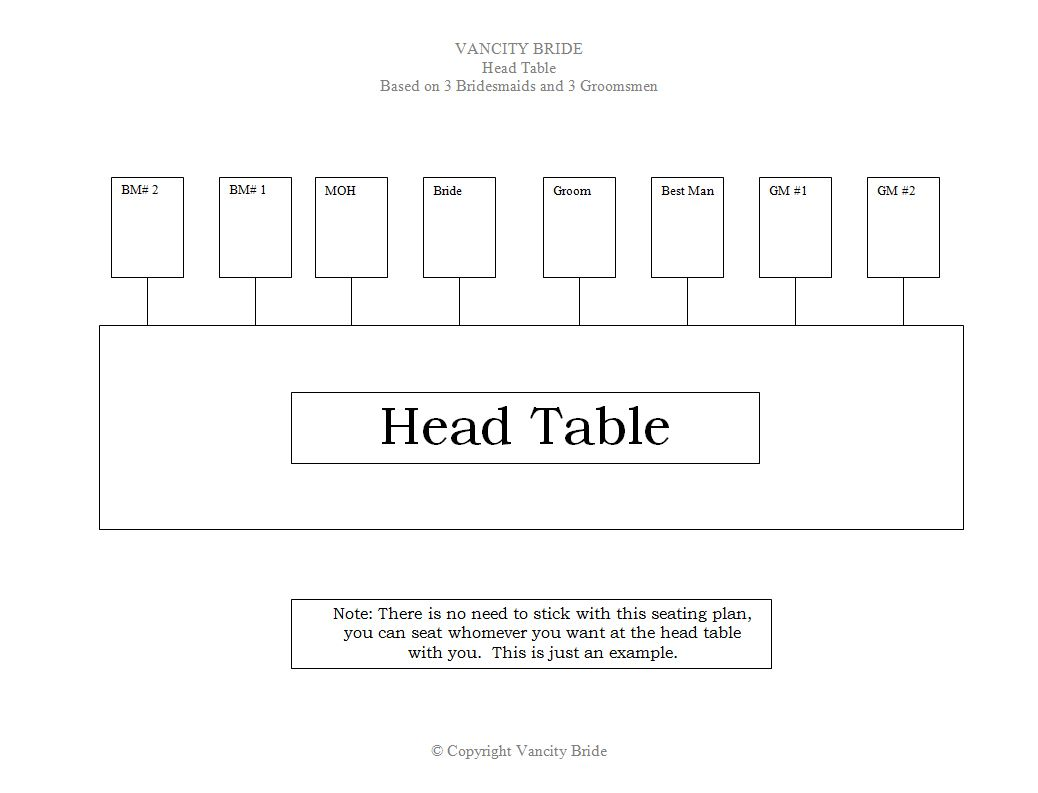 6 free wedding seating chart templates