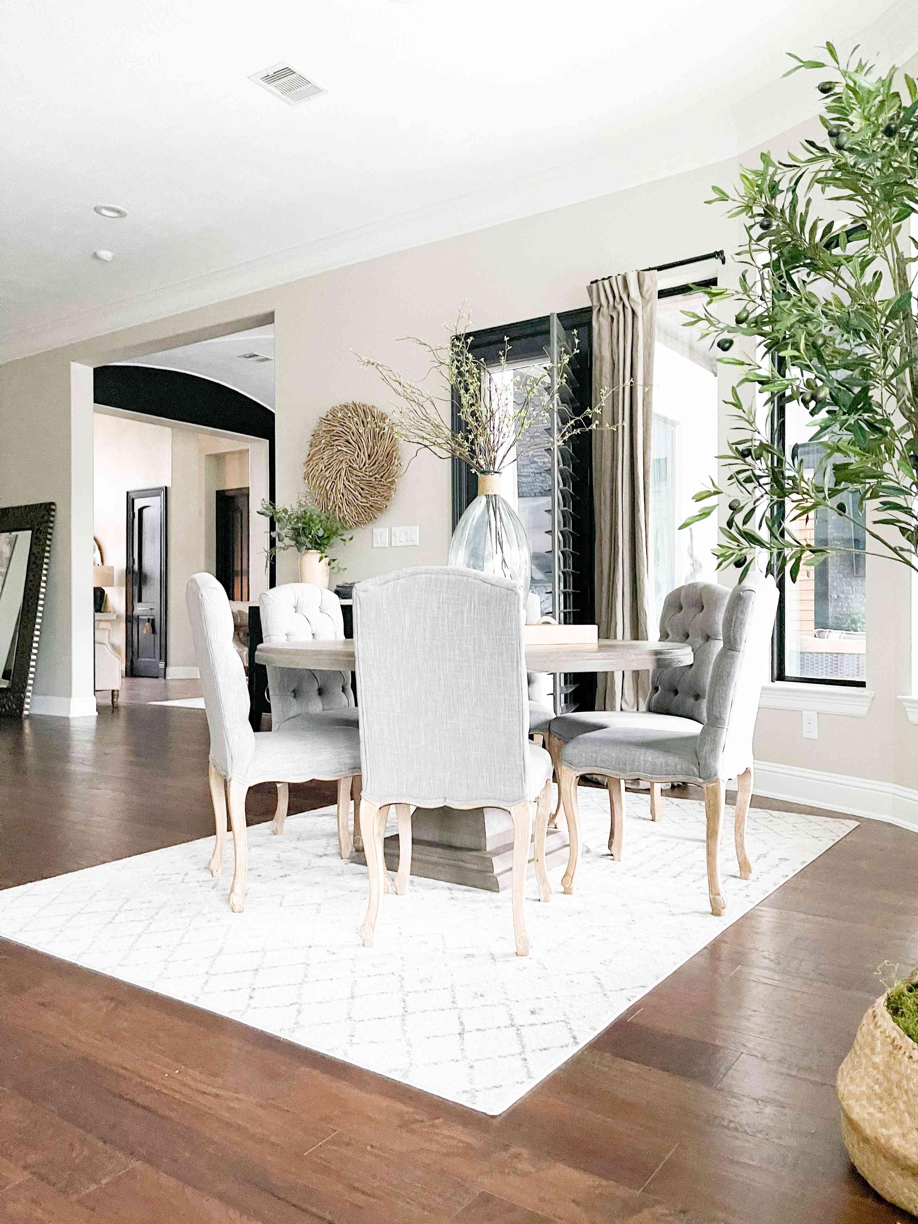 neutral dining room farmhouse