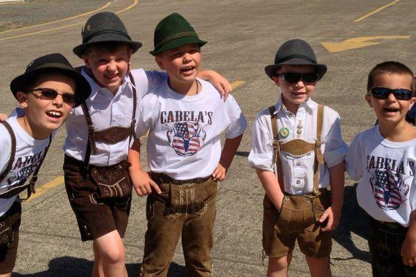 kids at an Oktoberfest party