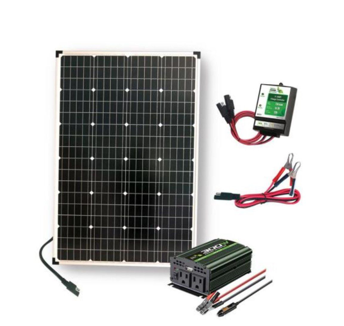 Nature Power 110W Polycrystalline Solar Panel with Inverter and Charge Controller
