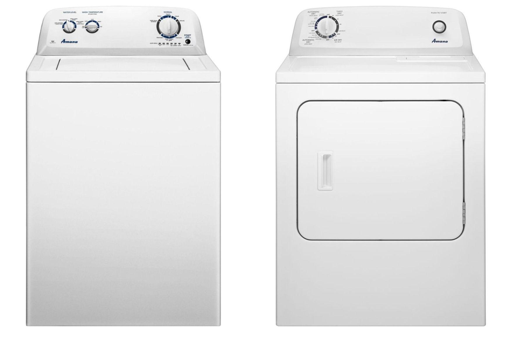 Amana NTW4516FW Washer and NED4655EW Dryer Bundle