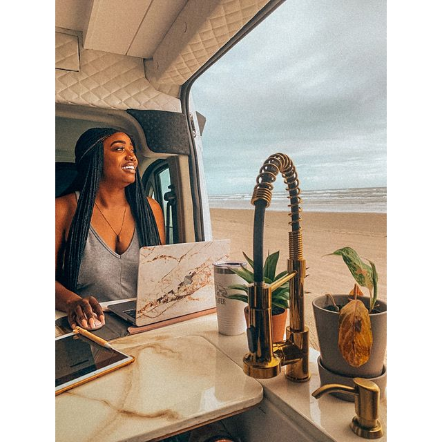 Antionette Yvonne in her tiny home