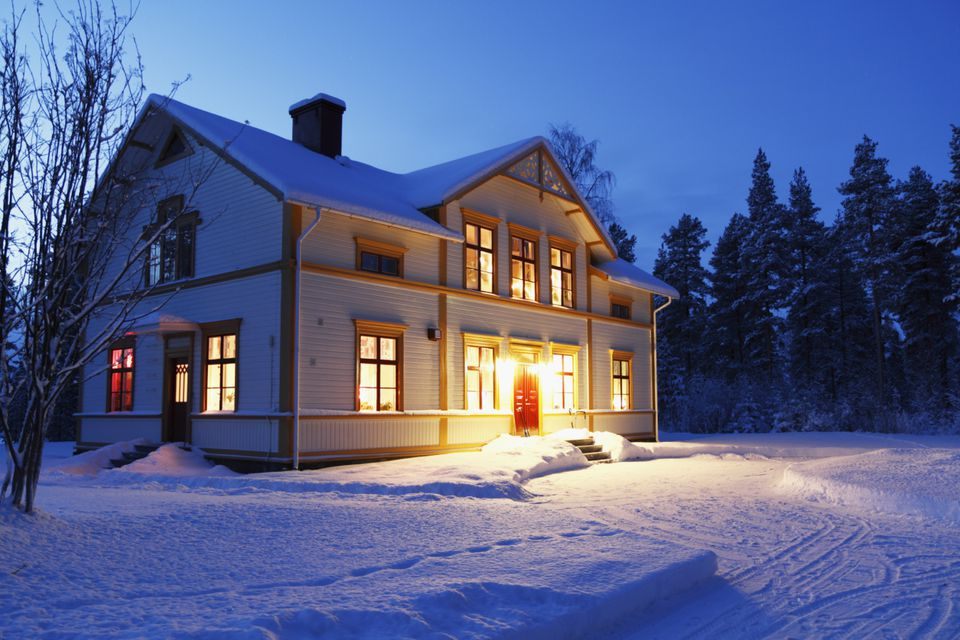 Snow-Covered House
