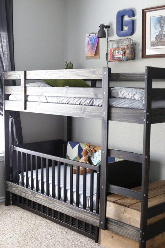 Baby-friendly bunk bed hack using Ikea's Mydal bunk bed