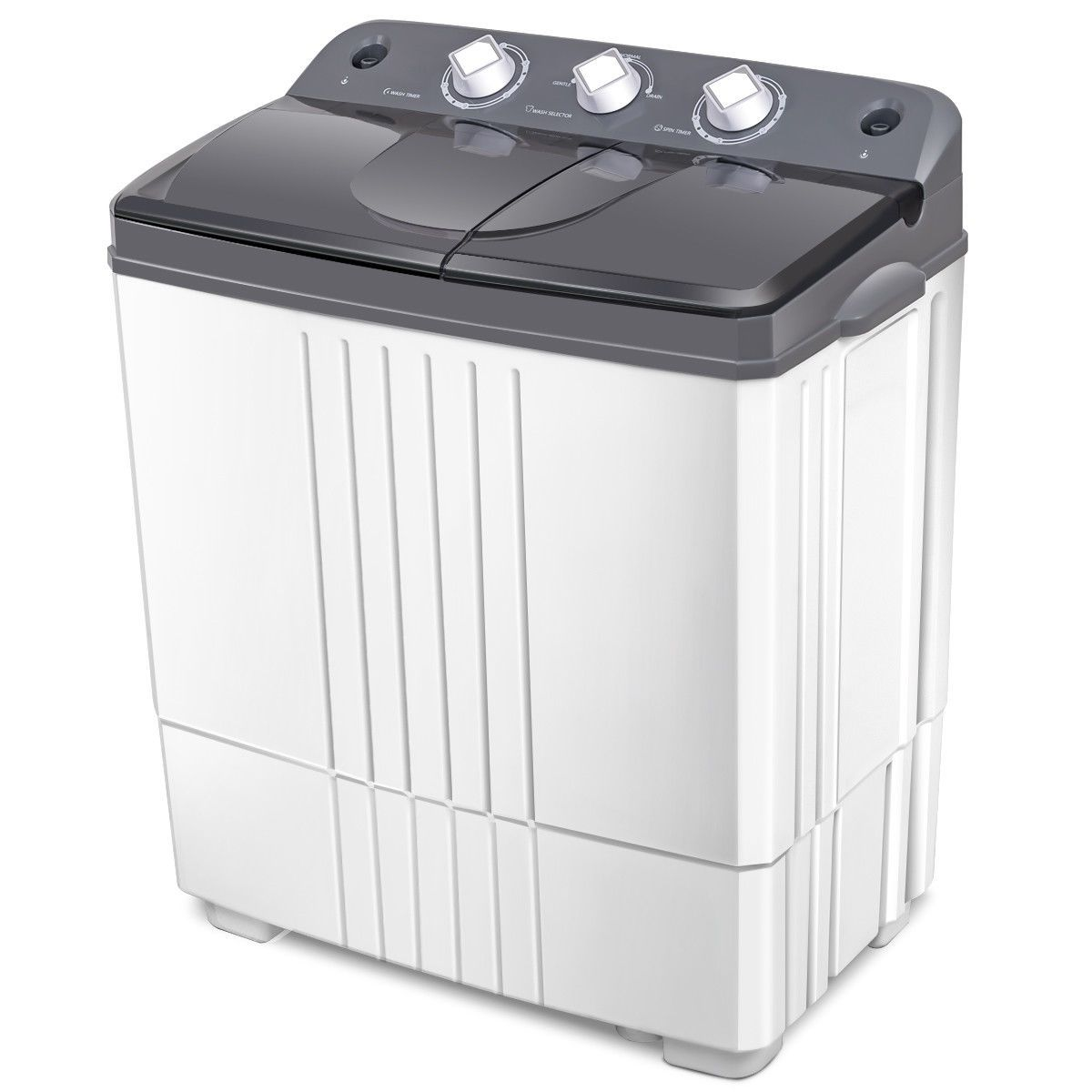300W, Blue Magic Folding Washing Machine Quick Gear Washing Machine Portable Foldable Collapsible Countertop Automatic Personal Turbine Washer for Camping Travelling Apartments Dorms RV