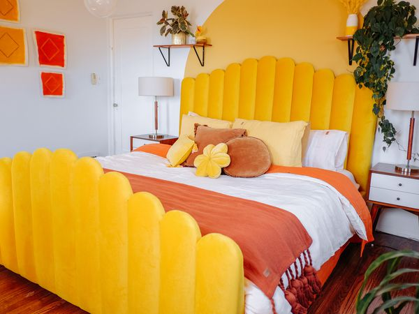 colorful neon bedroom