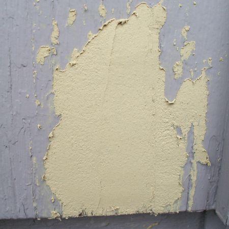 Fix Peeling Paint - Let Wood Filler Dry