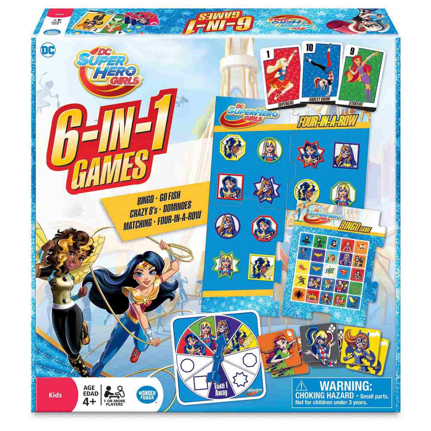 DC Super Hero Girls 6 in 1 Game Set