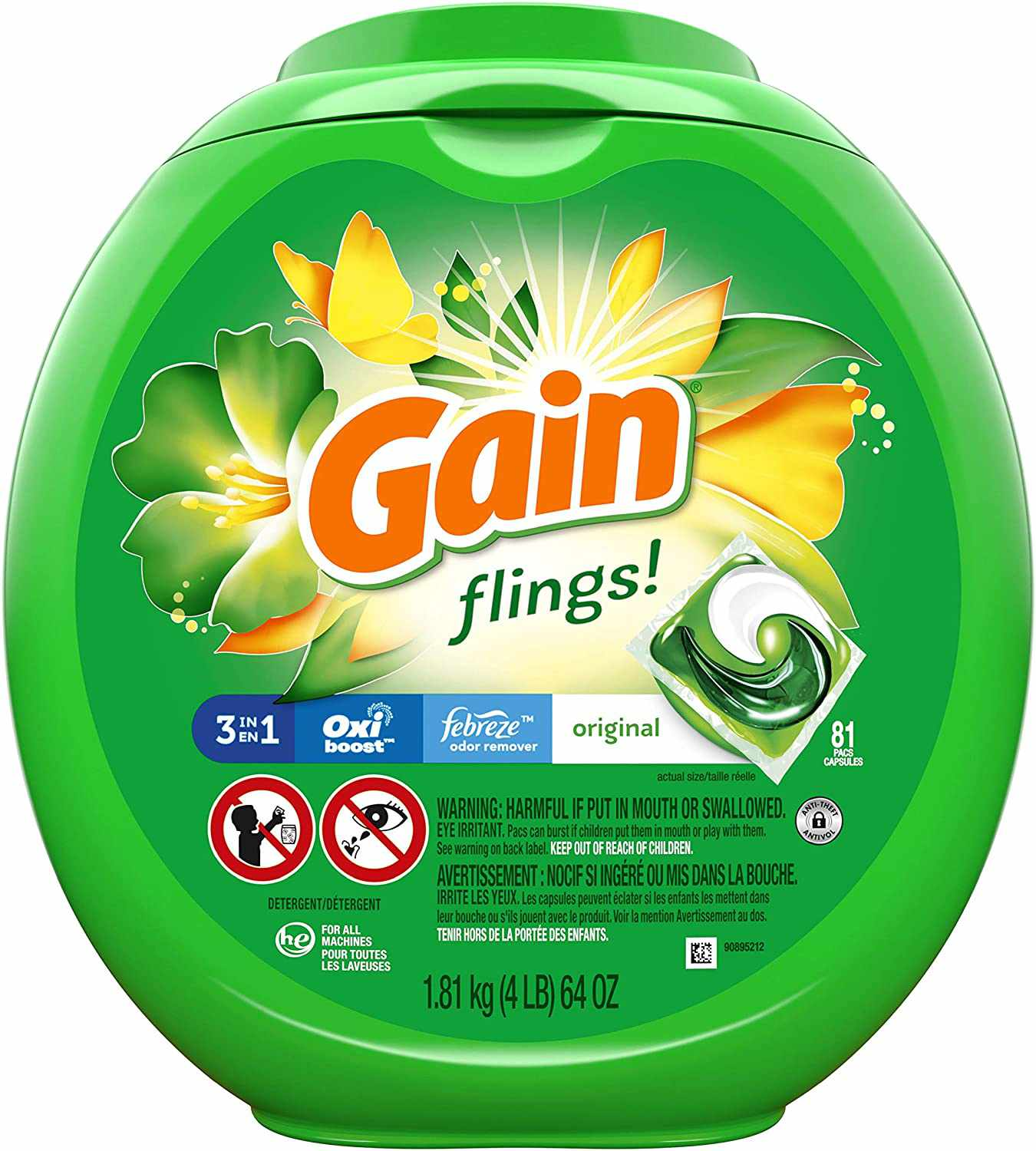 Flings! + Aroma Boost 3-in-1 Laundry Detergent Pacs