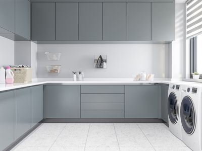 large clean laundry room