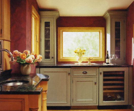 Kitchen Cabinets With Very Short Soffit