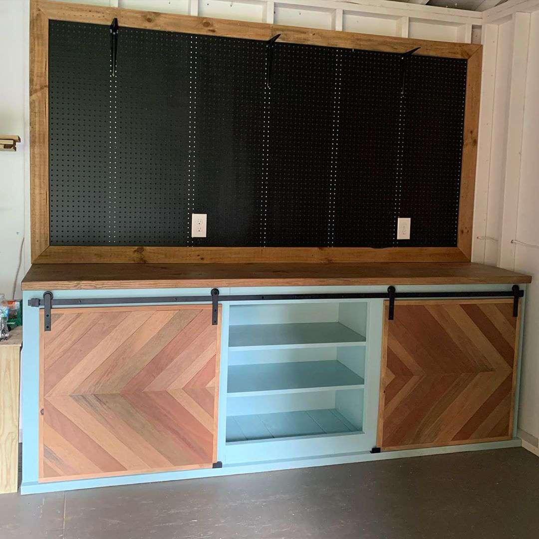 Storage with a barn door