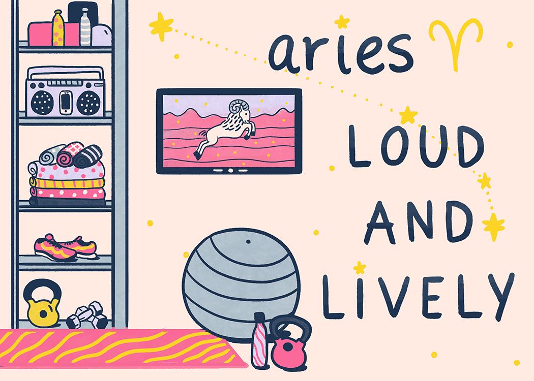 aries home decorating illustration