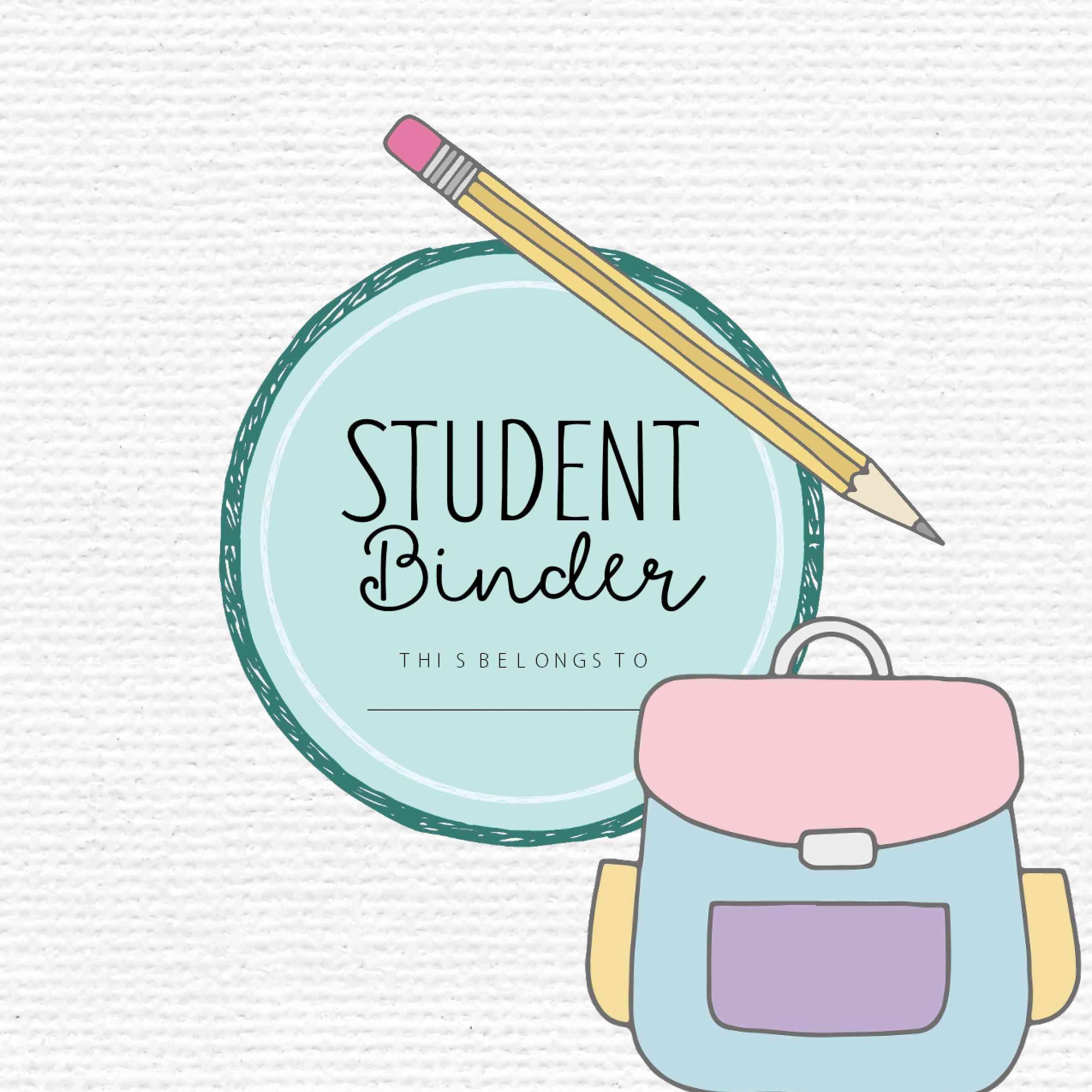 Planificador de organización de regreso a la escuela para estudiantes