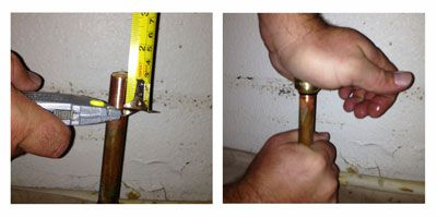 Cap water pipe with push on fitting