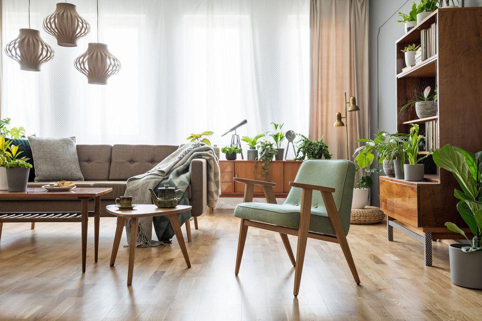 Mid-century inspired living room.