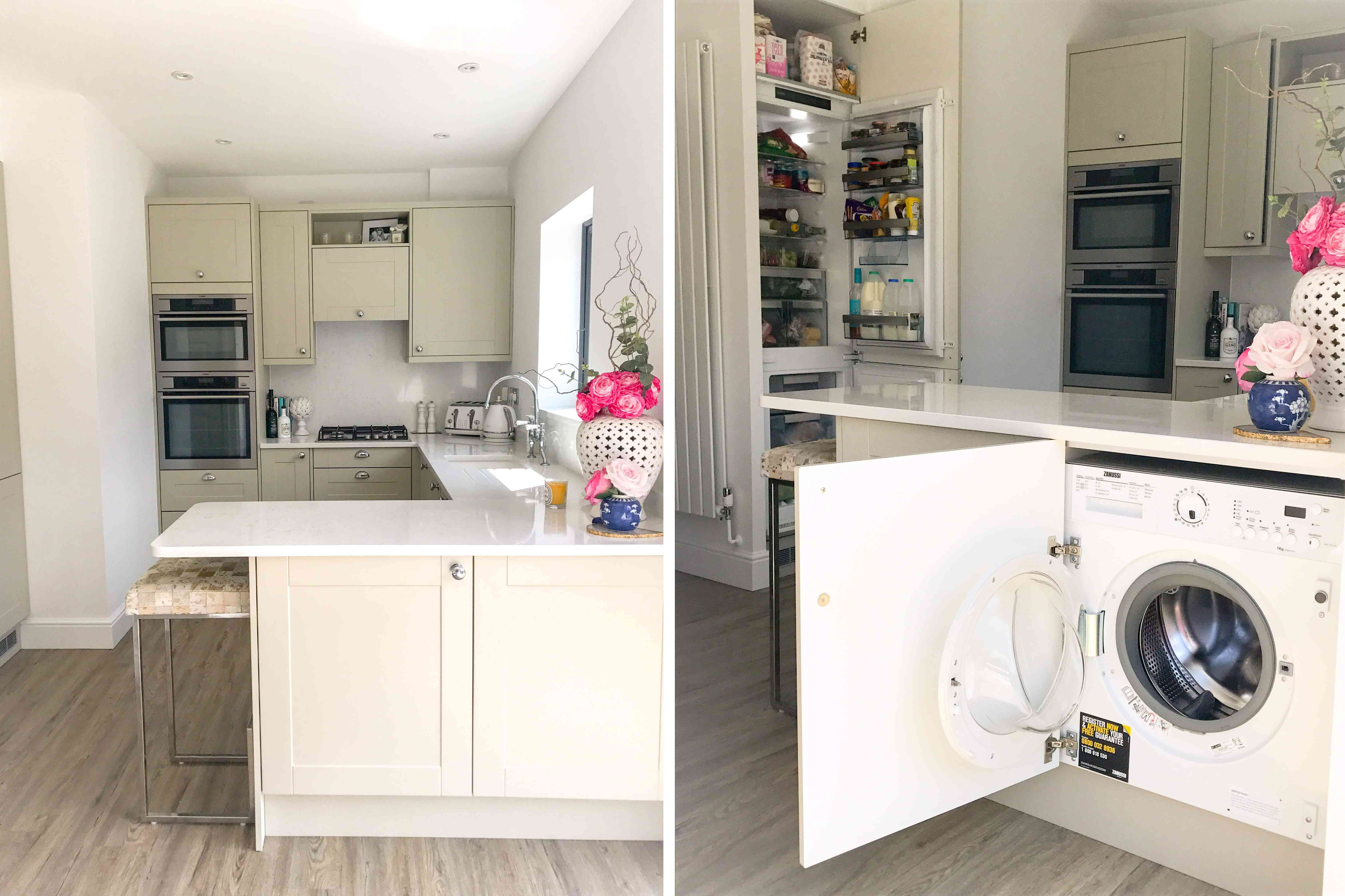 Laundry dryer concealed in cabinet