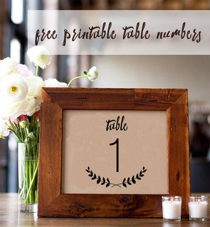 107 Sets Of Free Printable Wedding Table Numbers