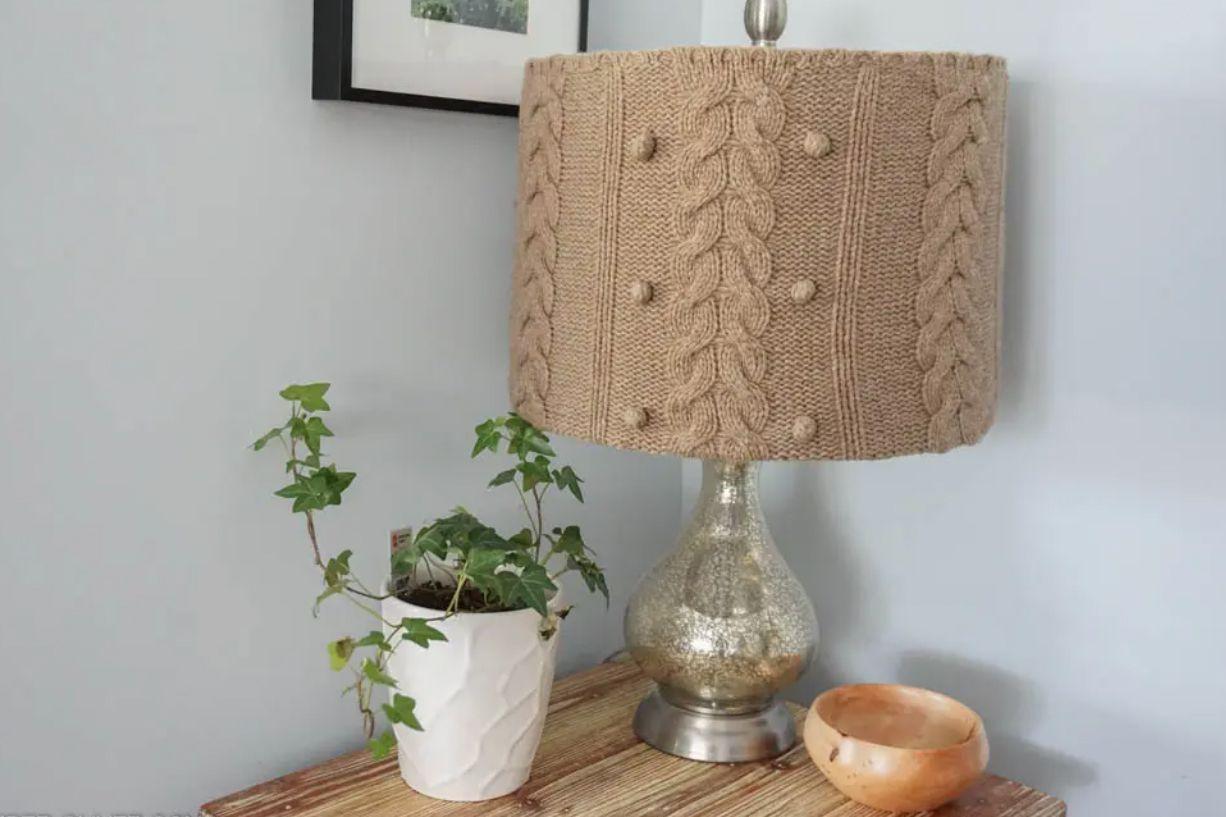 DIY sweater lampshade