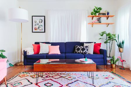 Bright And Colorful Living Room Color Scheme