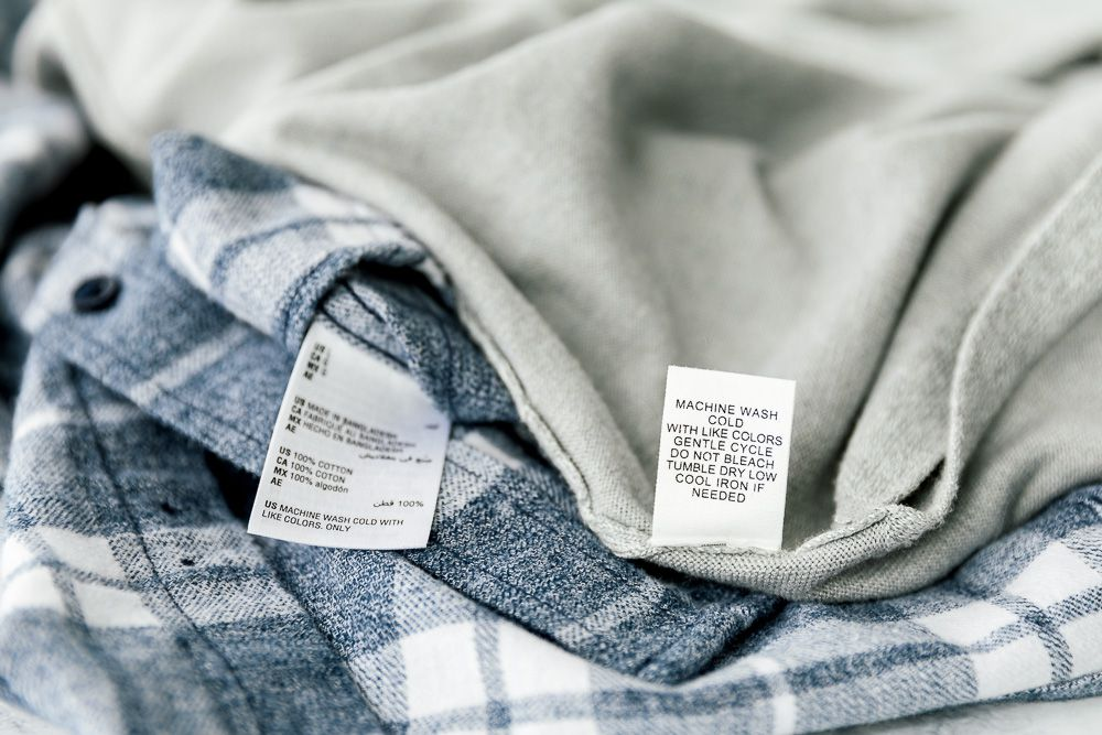 care labels on clothing