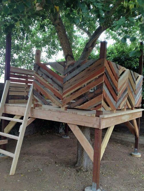 Casa del árbol reciclada de Chevron