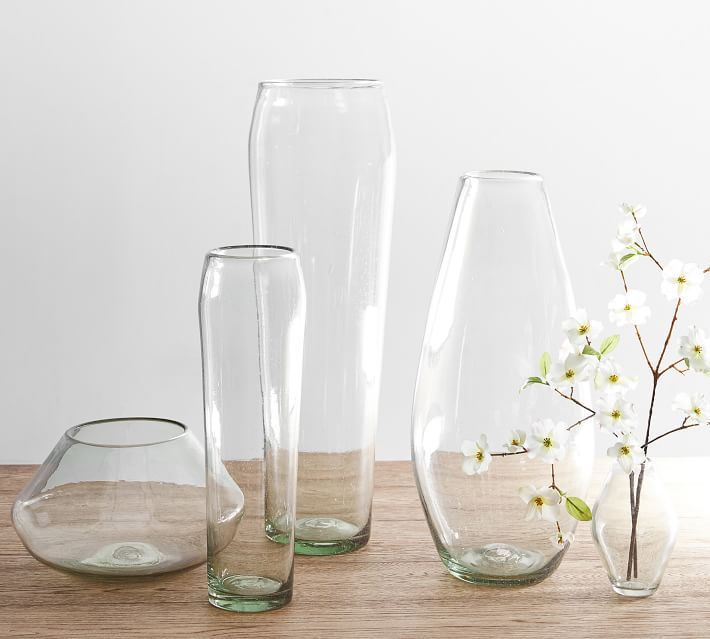 Pottery Barn Nouvel Handcrafted Recycled Glass Vase
