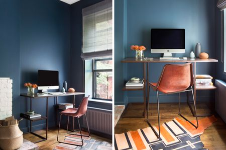 Leggy Desk And Chair In Nyc Apartment