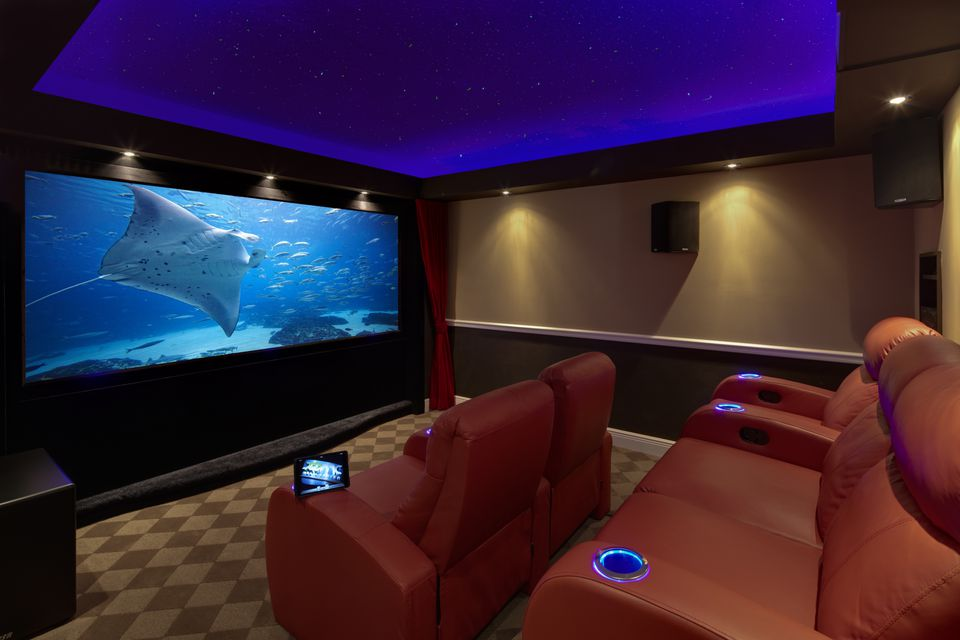 Home Theater Blue Soffits 60839164