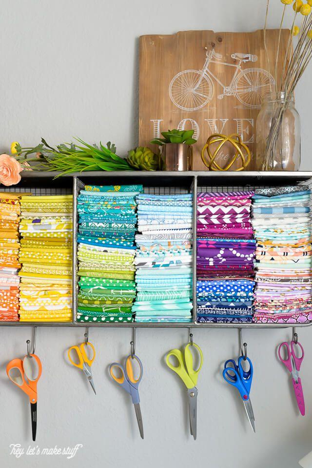 organized craft supplies